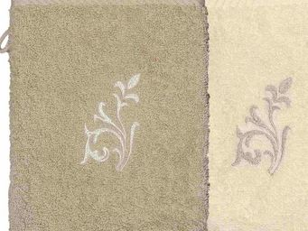 SIRETEX - SENSEI - gant eponge brodé versailles 500gr/m² coton - Gant De Toilette