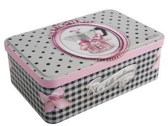 Orval Creations - bo�te � sucre la belle italienne - Boite � Biscuits