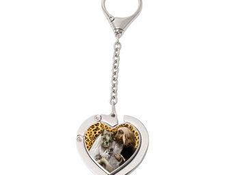 Orval Creations - porte-sac coeur avec cha�nette mariage du si�cle - Accroche Sac
