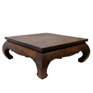 DECO PRIVE - table basse opium 100 x 100 cmen bois massif - Table Basse Carrée