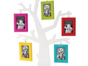 Present Time - cadre photo arbre généalogique - couleur - multico - Cadre Photo