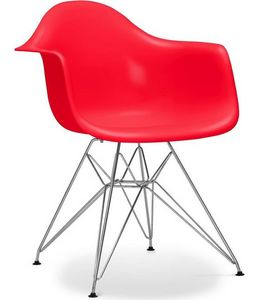 Charles & Ray Eames - chaise eiffel ar rouge charles eames lot de 4 - Chaise Réception