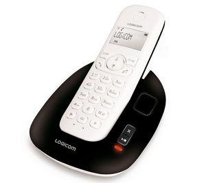 LOGICOM - tlphone rpondeur dect manta 155t - noir/blanc - Téléphone