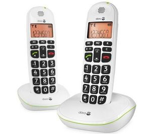 Doro - tlphone dect phoneeasy 100w duo - blanc - Téléphone