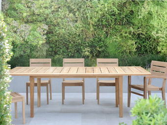 Tectona - exeter - Table De Jardin � Rallonges
