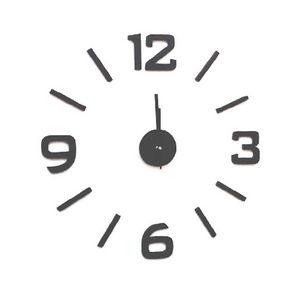WHITE LABEL - horloge barre � coller sur le mur - Pendule Murale