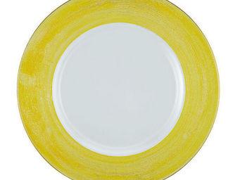 Greggio - yellow lay plate art 19880177 - Dessous D'assiette