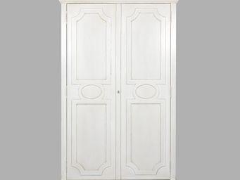 BLANC D'IVOIRE - vicky blanc antique - Armoire � Portes Battantes