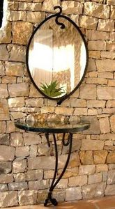 PIERRE CHAIGNEAU CREATIONS - volubilis - Console Demi Lune