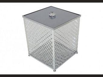 Cristal Et Bronze - cristal taille  d - Poubelle De Salle De Bains