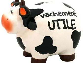 Cm - tirelire vache message - tirelire - utile - Tirelire