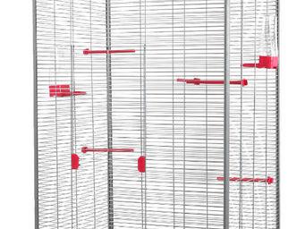 ZOLUX - voli�re laia rose et grise 79x67,5x167cm - Cage � Oiseaux