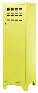 PHSA - armoire 1 porte en métal anis 40x40x134cm - Armoire Dressing