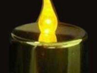 ZEN LIGHT - 12 bougies dorées leds flamme jaune leds jaunes - Bougie Led