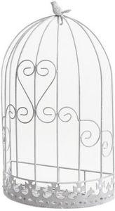 Aubry-Gaspard - cage murale déco oiseau en métal 32x17x53cm - Cage D'extérieur