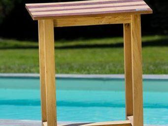 DOUELLES AND DESIGN - parquettée - Table D'appoint De Jardin