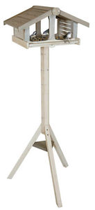 ZOLUX - mangeoire sur pied atlantic en bois 46x36x130cm - Mangeoire À Oiseaux