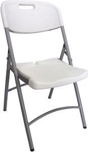GECKO - chaise pliante blanche en résine 50,5x60x88cm - Chaise Pliante