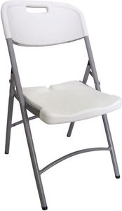 GECKO - chaise pliante blanche en r�sine 50,5x60x88cm - Chaise Pliante