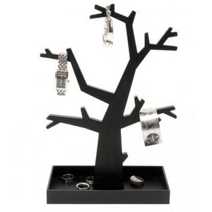 Present Time - arbre àbijoux noir ou argenté - couleur - noir - Porte Bijoux