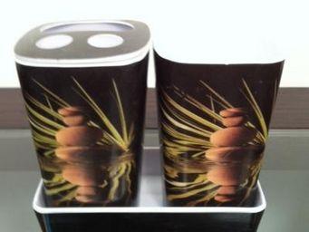 Cm - pot de salle de bain zen - Verre � Dent