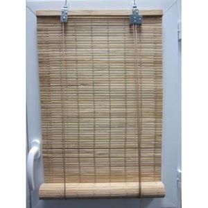 Luance - store enrouleur lattes bambou naturel 40x180 cm - Store Enrouleur