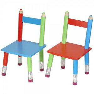 La Chaise Longue - chaises crayons en bois pour enfant (par 2) - Chaise Enfant