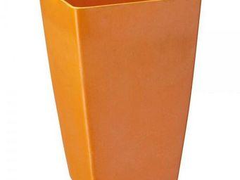 NetCadeau - vase bambou orange - Cache Pot