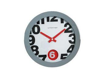 La Chaise Longue - horloge murale 41cm swing 6 blanc - Pendule Murale