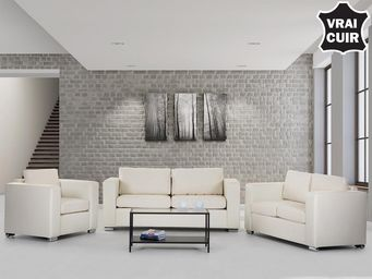 BELIANI - sofa en cuir - Salon