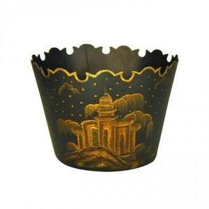 Demeure et Jardin - jardini�re noire en t�le peinte grand mod�le - Cache Pot