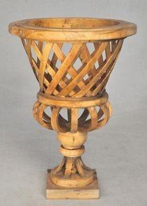 Demeure et Jardin - vase tressé ciré - Vase Décoratif