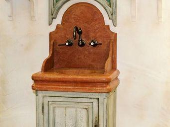 PROVENCE ET FILS - lave main chenonceaux vasque et fronton marbre + m - Lave Mains