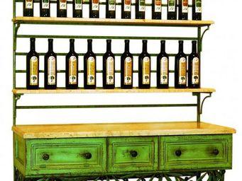 PROVENCE ET FILS - etagere olives avec etag�res en marbre 30 mm - Meuble De Cuisine