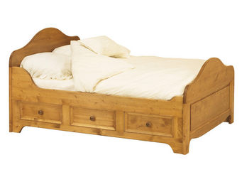 Interior's - lit à tiroirs 2 personnes pour literie 160x200 cm - Lit Double À Tiroirs