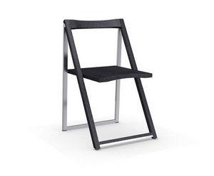 Calligaris - chaise pliante skip graphite et aluminium satiné d - Chaise Pliante