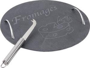 Aubry-Gaspard - plateau à fromages ardoise et métal - Plateau À Fromage
