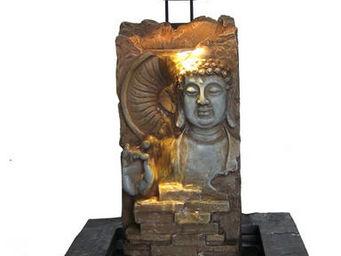 ZEN LIGHT - mur d'eau d'intérieur bouddha en résine 22x20x40 - Fontaine D'intérieur