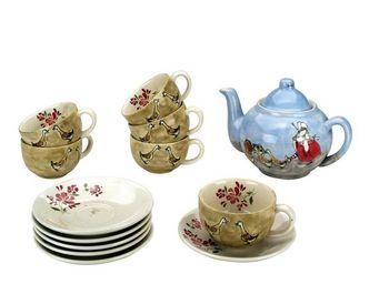 Interior's - coffret service à thé chaume - Service À Thé