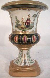 Demeure et Jardin - urne m�dicis aux chinois - Vase Couvert