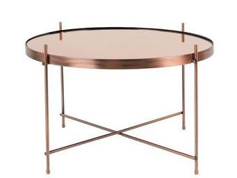 Mathi Design - table salon cuivre - Table Basse Ronde