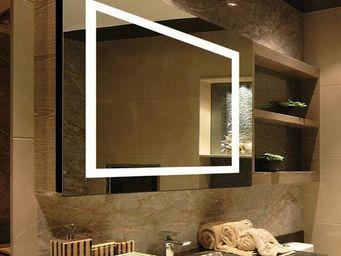 UsiRama.com - miroir éclairant led haut de gamme future3 - Miroir De Douche