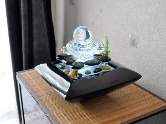 ZEN LIGHT - fontaine lumineuse � boule magesto - Fontaine D'int�rieur