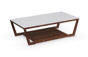 Calligaris - table basse element de calligaris noyer avec plate - Table Basse Rectangulaire