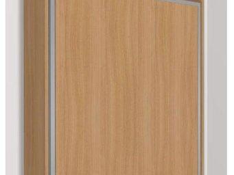 WHITE LABEL - armoire lit escamotable eos, cerisier. matelas tre - Armoire Lit