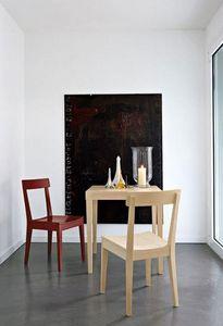 Calligaris - table repas la locanda 70x70 de calligaris en hêtr - Table De Repas Carrée
