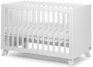 WHITE LABEL - lit bébé 60x120cm coloris blanc - Lit Pliant Bébé