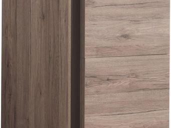 WHITE LABEL - meuble de bar coloris san remo rustique � 1 porte - Meuble Bar
