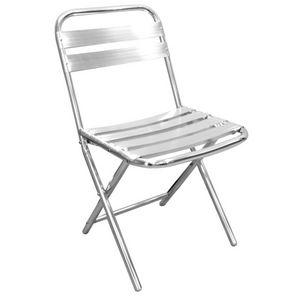 COMFORIUM - lot de 4 chaises pliables en aluminium de coloris  - Chaise De Jardin Pliante