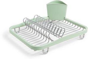 Umbra - egouttoir vaisselle avec porte ustensiles amovible - Egouttoir